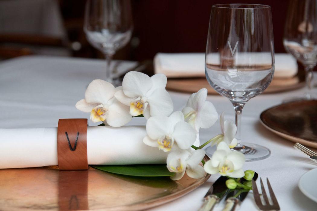 Beispiel: Detail - Tischdekoration, Foto: VAU