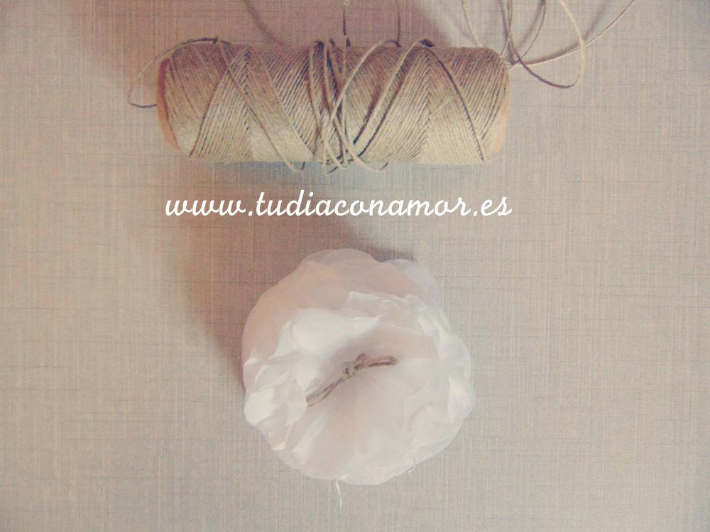 Flores de papel para boda