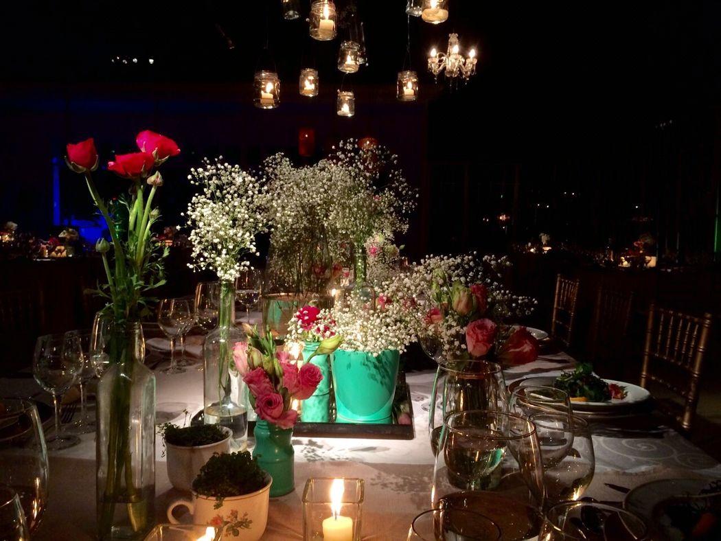 Matrimonio de noche Casa Almarza