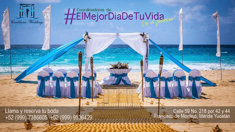 Caribbean Weddings & Event Service Coordinadores de: EL MEJOR DÍA DE TU VIDA !!!  Más información: Tel +52 999 953 64 29 Cel +52 999 738 66 05 (Whatsapp) Mail: garjona@caribbean-weddings.com.mx