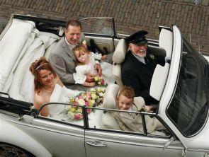 Tap Trouwvervoer Volkswagen Kever Cabrio