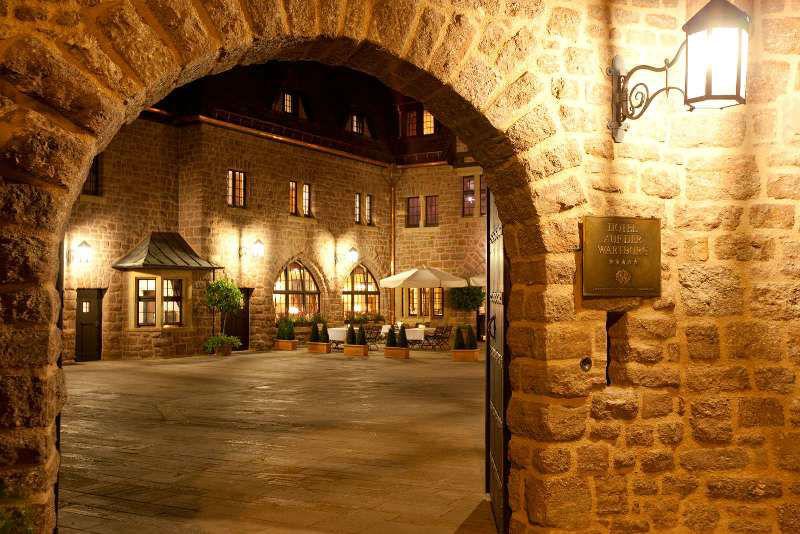 Eingang zum Hotel, Foto: Hotel auf der Wartburg