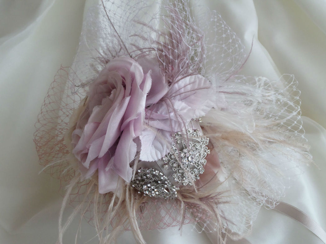 Ramo flores de seda estilo vintage