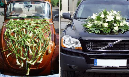 Beispiel: Autoschmuck, Foto: Jentsch Blumen.
