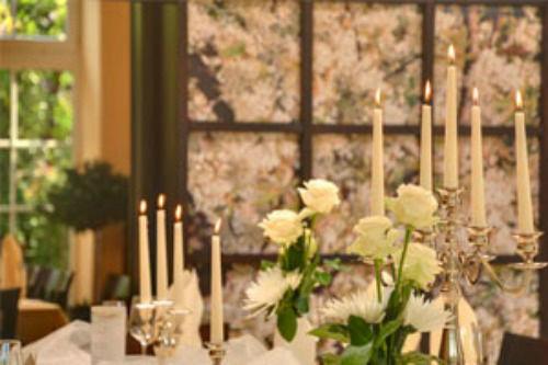 Beispiel: Tischdekoration, Foto: Gasthof Alt Engelsdorf.