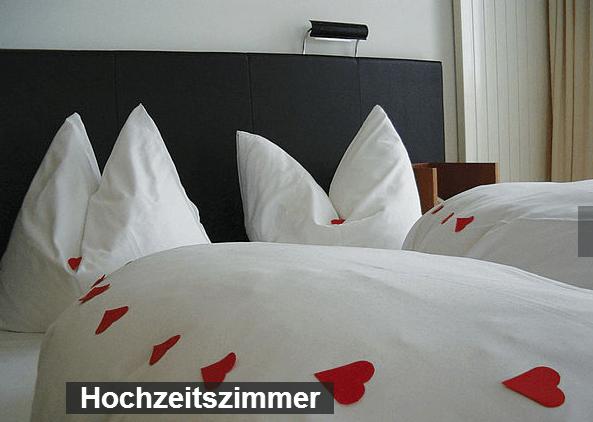 Beispiel: Hochzeitszimmer, Foto: Martinspark Hotel Dornbirn.