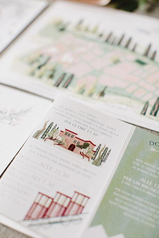 Benvenuti a Pienza: Illustrazioni e grafica per welcom-kit - foto di Les Amis Photo