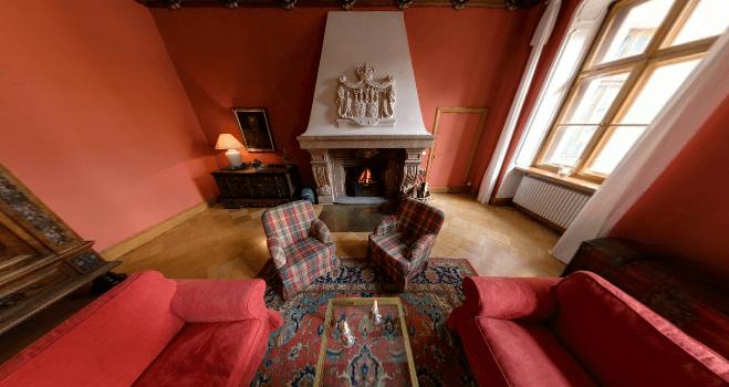 Beispiel: Kaminsaal, Foto: Schloss Proschwitz.