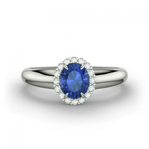 Beispiel: Kate RI3301 - Witgoud, blauwe saffier, Foto: 21 Diamonds.