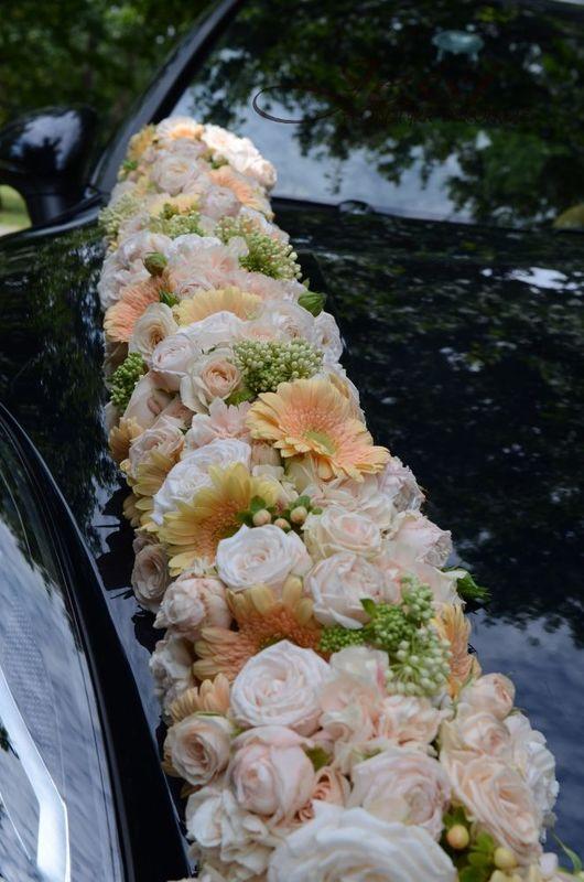 girlanda kwiatowa na samochód #pastelowe#porsche