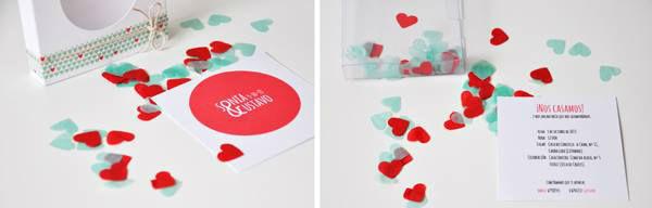 Invitaciones con confetti
