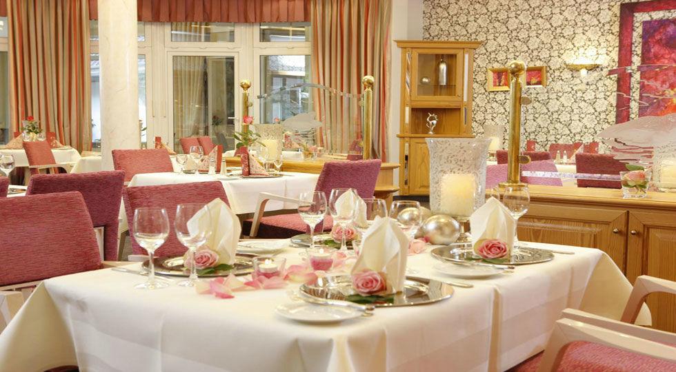 Beispiel: Restaurant - Tischdekoration, Foto: Hotel Robben.