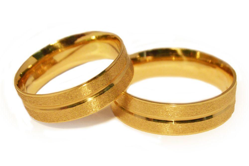 Alianças Casamento Ouro Amarelo ALC78