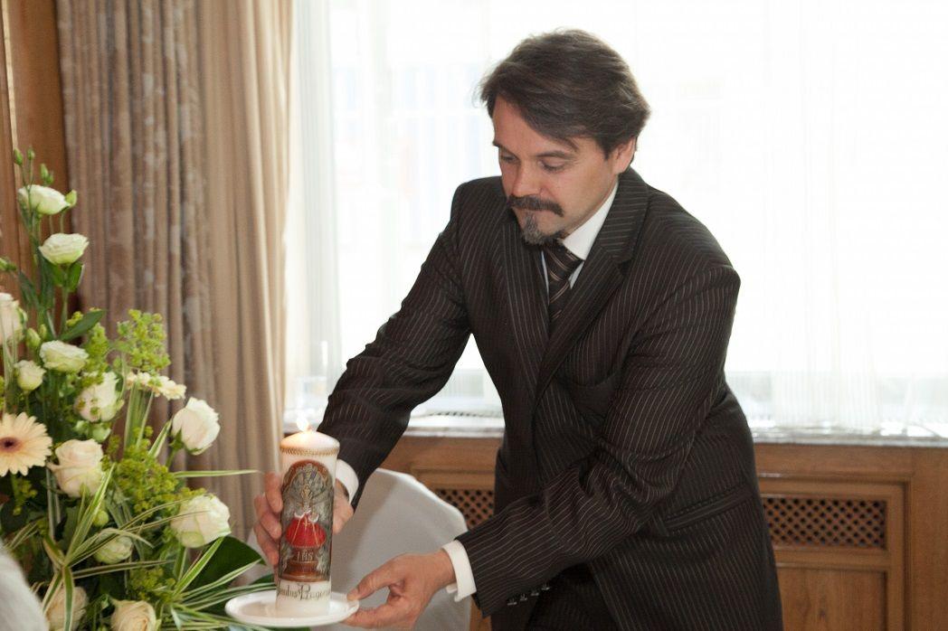 Beispiel: Hochzeitskerze, Foto: Ihr Hochzeitsredner - Gregor Andre.