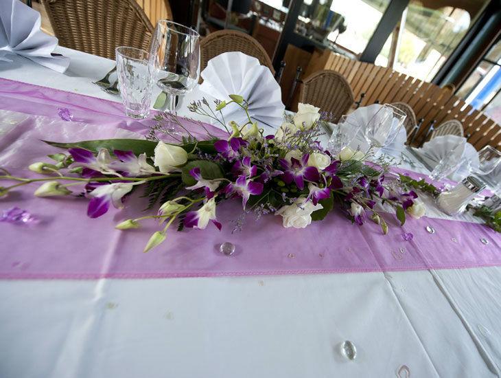 Beispiel: Tischdekoration, Foto: DDSG Blue Danube.