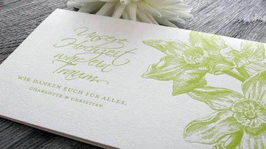 Beispiel: Dankeskarte Flowergarden, Foto: Honeybird.
