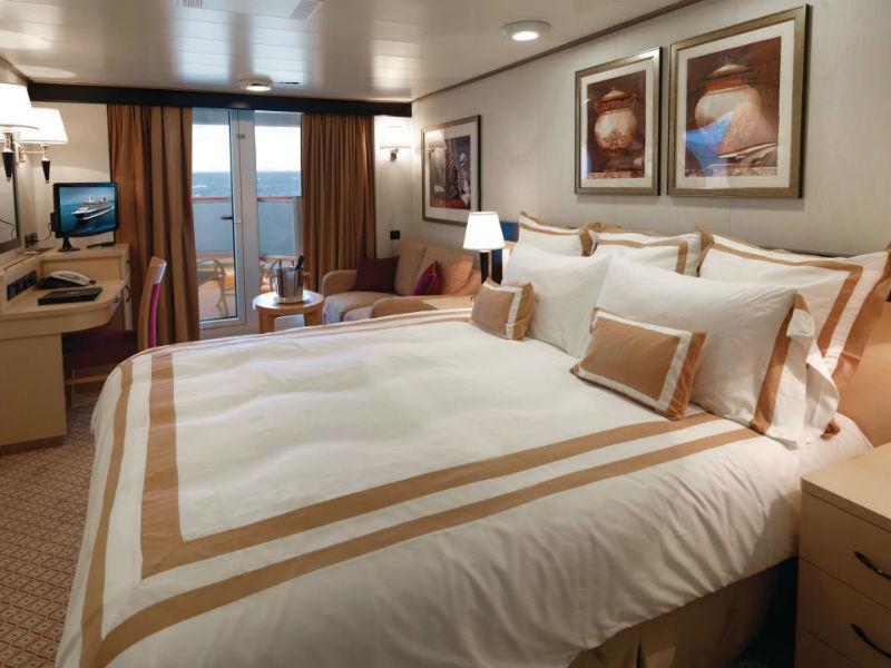 Beispiel: Zimmer, Foto: Cunard Line.
