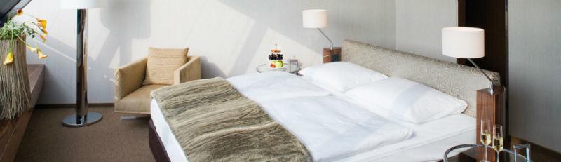 Beispiel: Zimmer, Foto: Mövenpick Hotel Hamburg.