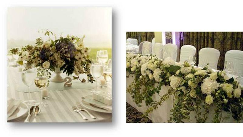 Jardín de té y flores. Mesa nupcial