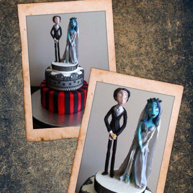 Свадьбы бывают разные))) Тортик для свадьбы по мотивам мультфильма
