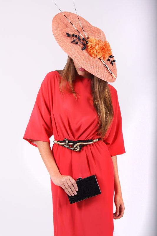 Vestido MULAN de Anabelle Li y tocado de Cris Camón