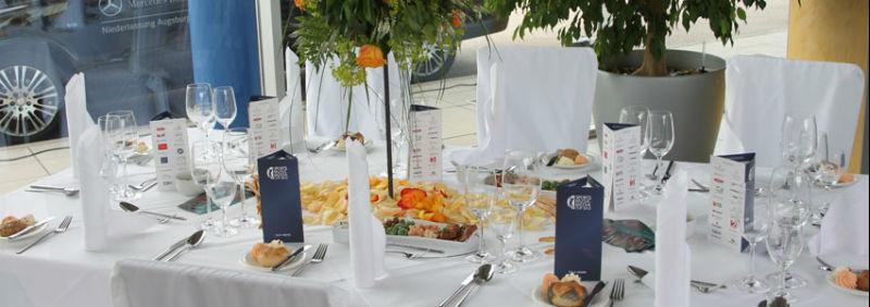 Beispiel: Kreative Tischdekoration, Foto: Hotel Moosburger Hof.