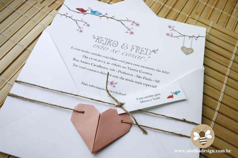 Coleção Origami Coração - Modelo Envelope Bico
