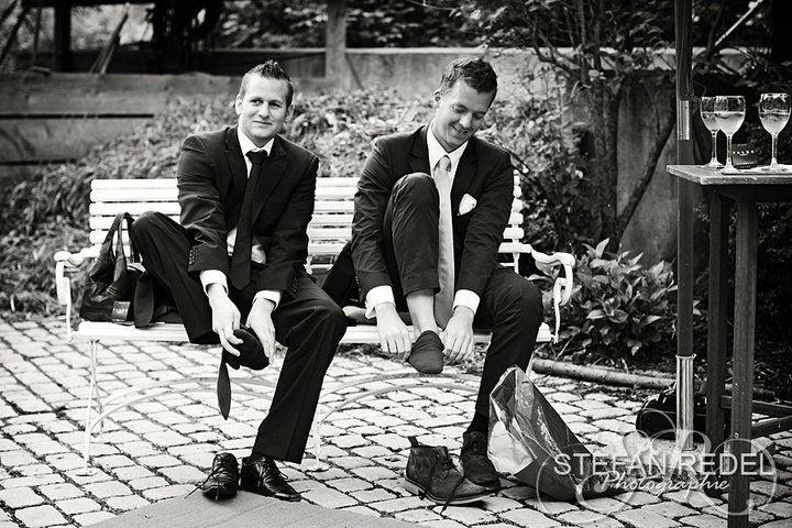 Beispiel: Witzige Aufnahmen von Ihrer Hochzeit, Foto: Stefan Redel Photographie.