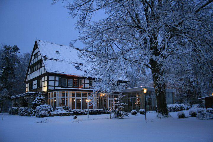Beispiel: Außenanlage Winter, Foto: AKZENT Hotel Saltenhof.