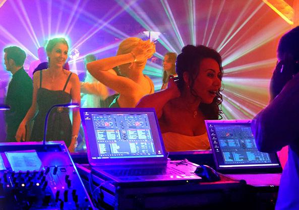 Lasershow mit DJ Steve