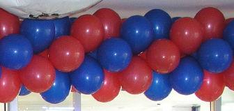 Beispiel: Ballongirlande, Foto: Ballonmeister.
