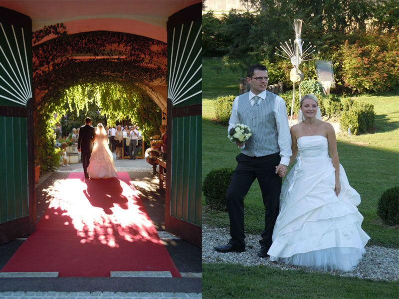 Beispiel: Brautpaar, Foto: Stadlerhof Wilhering.