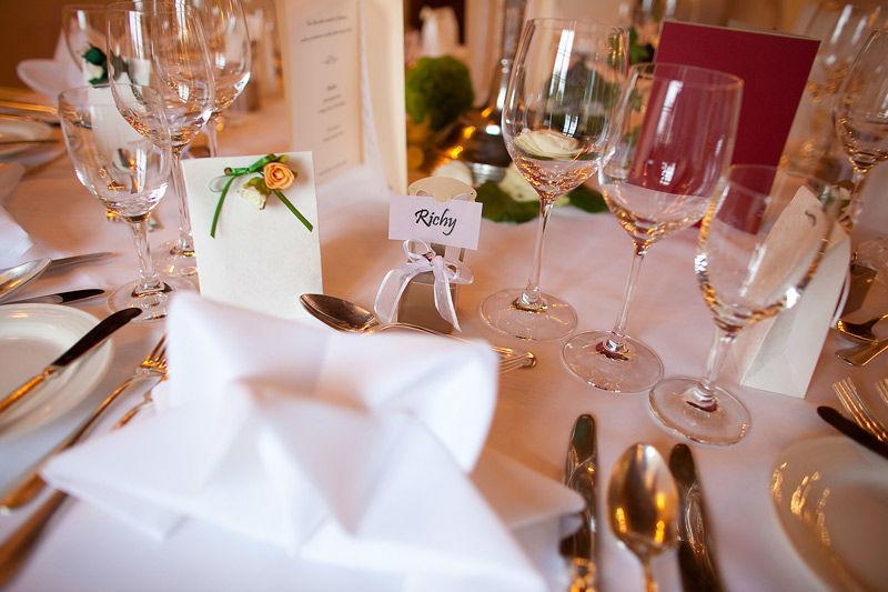 Beispiel: Tischdekoration, Foto: Cresta Palace.