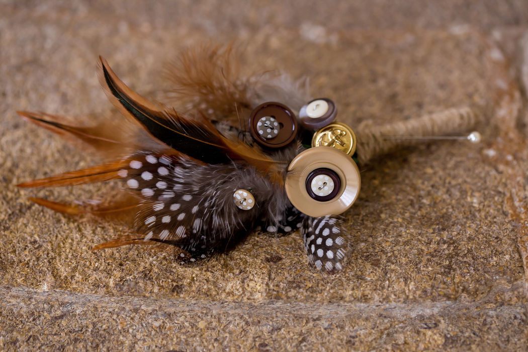 feather buttonhole