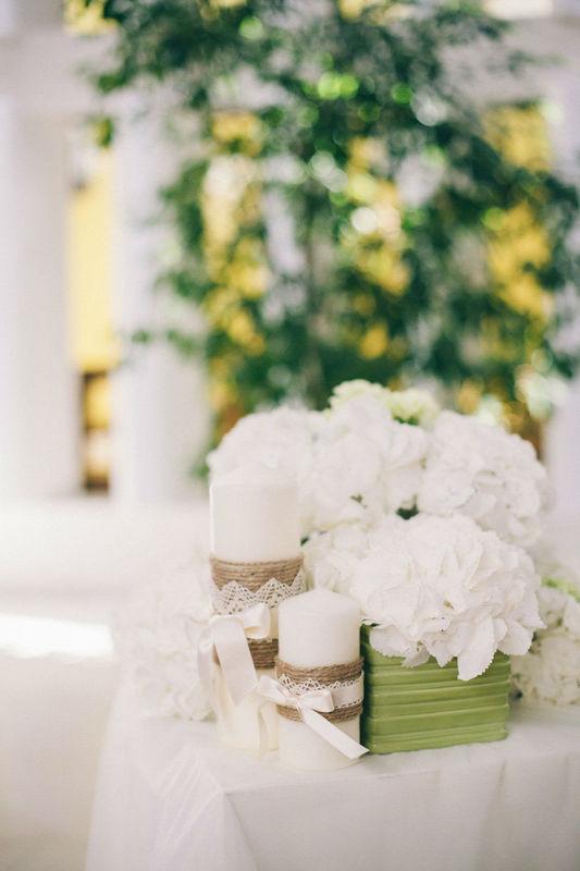 Addobbo floreale chiesa con ortensie