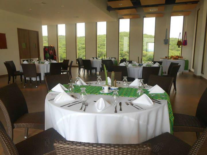 Salón preparado para boda