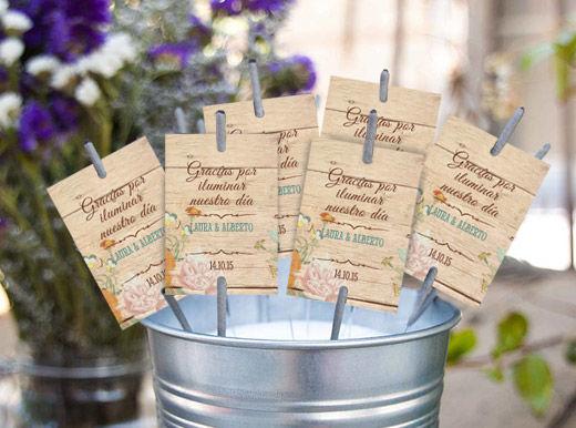 Bengalas Canna Love Wood para que vuestro amor eche chispas!!!! En una boda hay muchos detalles que son bonitos. Pero lo que nunca falla a la hora de sorprender a los invitados, son ¡las bengalas!