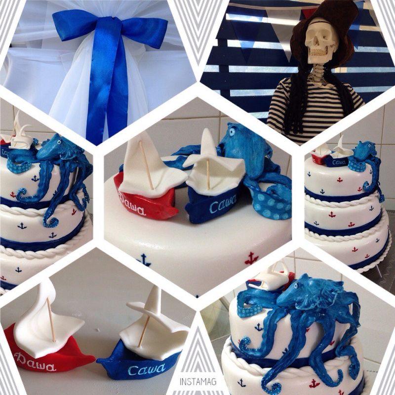 Пиратский торт с осьминогом