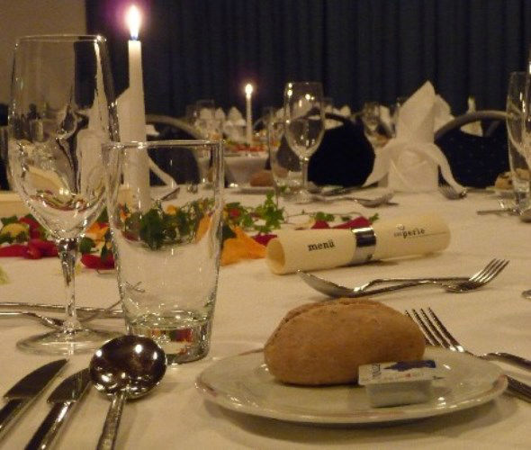 Beispiel: Tischdekoration, Foto: Die Perle.