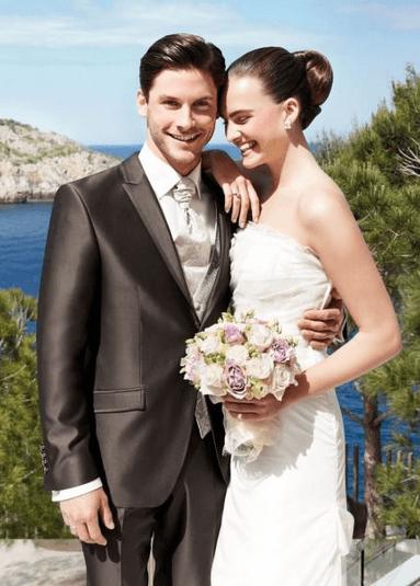 Beispiel: Brautpaar: Mode für den Bräutigam, Foto: David´s Mode.