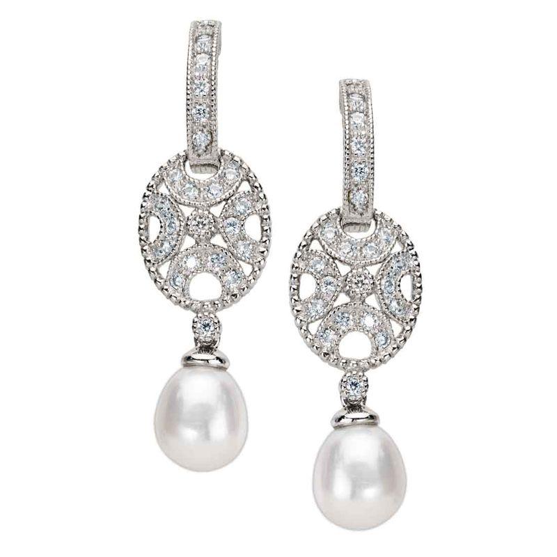 Pendientes de Plata, Swarovski y Perlas