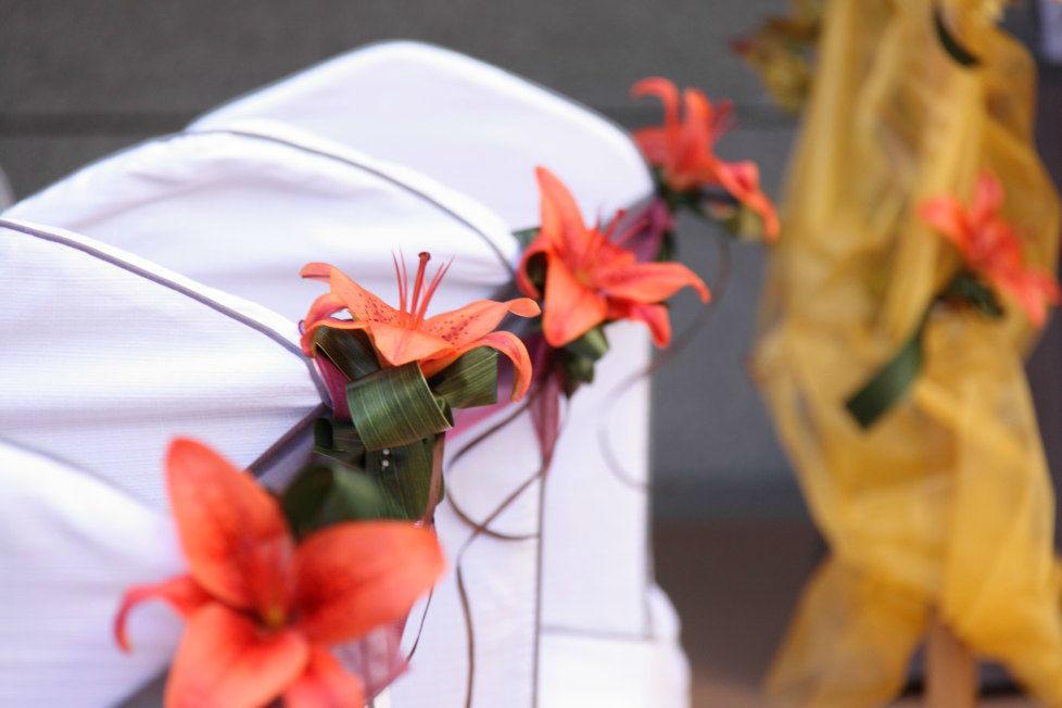 Detalle floral ceremonia civil