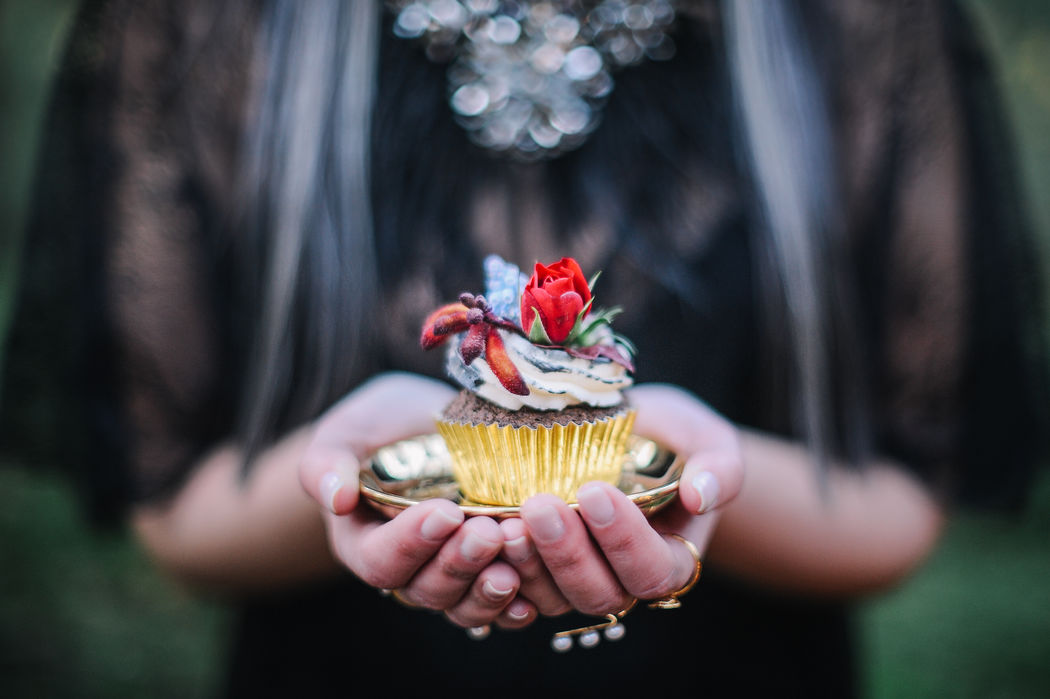 cupcake chocolate negro cobertura de baunilha
