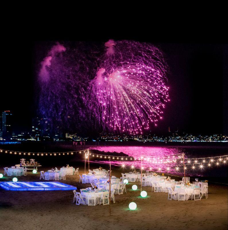 Celebración en Playa