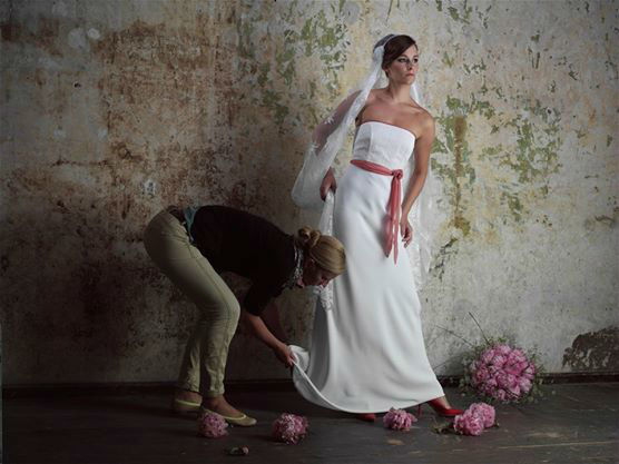 Beispiel: Brautkleid, Foto: Friske & Lübcke Modeatelier.