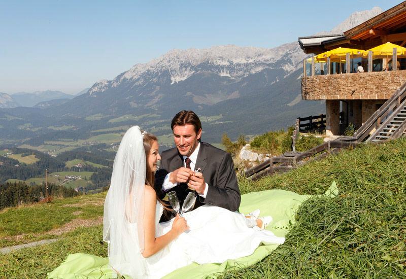Beispiel: Traumhochzeit in den Bergen, Foto: Brenneralm.