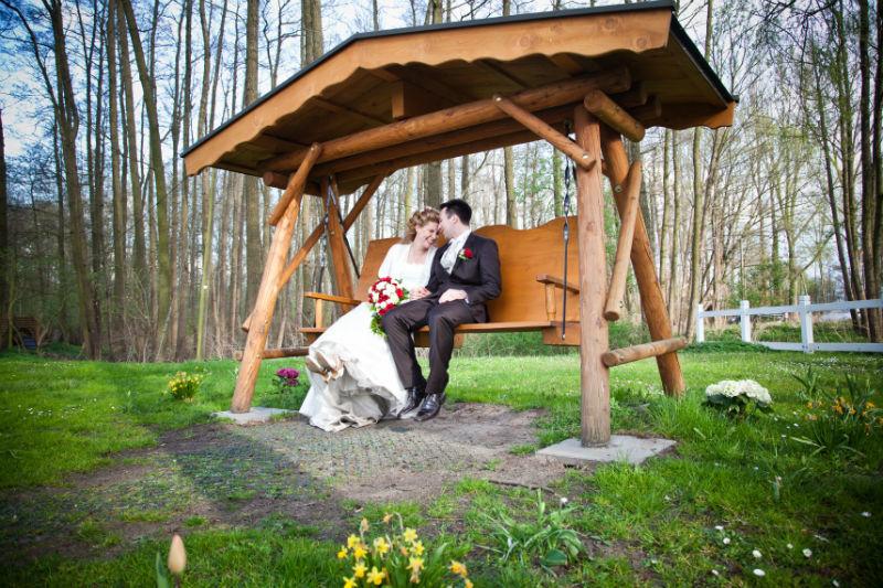 Beispiel: Hochzeitspaar, Foto: Seelodge Kremmen.