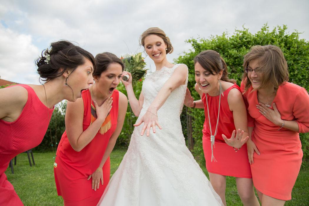 Photo de la mariée et ses témoins