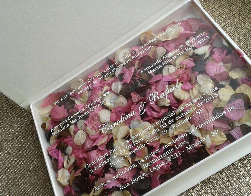 Convite modelo Box Floral