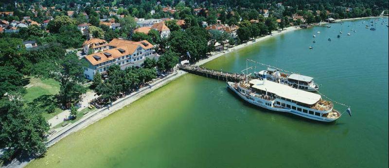 Beispiel: Seehof von oben, Foto: Hotel Seehof Herrsching.